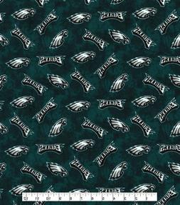 NFL Philadelphia Eagles TIE DYE 100% Cotton FLANNEL Fabric 1