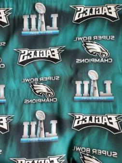 NFL Philadelphia Eagles Superbowl Cotton Fabric 1/4 Yard 9 X