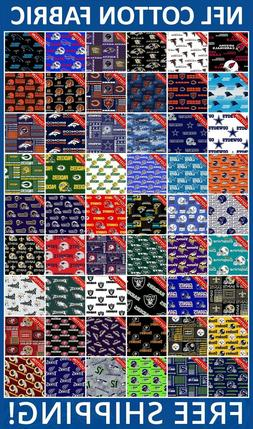 "NFL Sport All Teams Collection Cotton Fabric - 58-60"" Wide -"