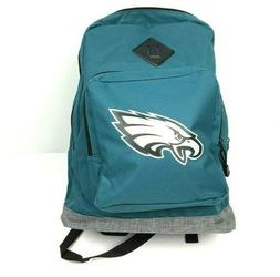 NWT NFL Kids Philadelphia Eagles Green/Gray Book Bag Backpac