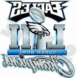 Philadelphia Eagles 2018 Super Bowl Champions 52 Decal / Sti