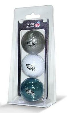 Philadelphia Eagles 3 Pack Golf Balls  NFL White Golfing Pk