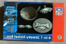 Philadelphia Eagles 4-in-1 Jewelry Trinket Box w/ Necklace a