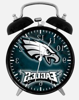 "Philadelphia Eagles Alarm Desk Clock 3.75"" Home or Office De"