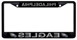 Philadelphia Eagles BLACK Chrome Frame Metal License Plate T
