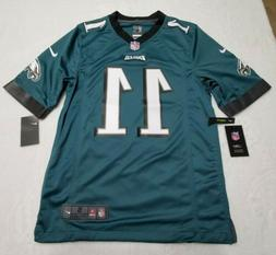 Nike Philadelphia Eagles Carson Wentz #11 Men's Green Game J