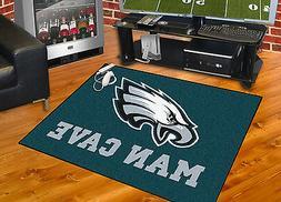 "Philadelphia Eagles Man Cave 34""x43"" All-Star Area Rug Mat"