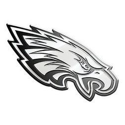 Philadelphia Eagles CE Silver Chrome Colored Raised Auto Emb