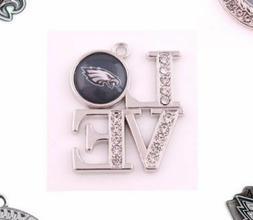 Philadelphia Eagles charms & earrings, your choice