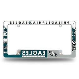 Philadelphia Eagles Chrome License Plate Frame All Over Tag