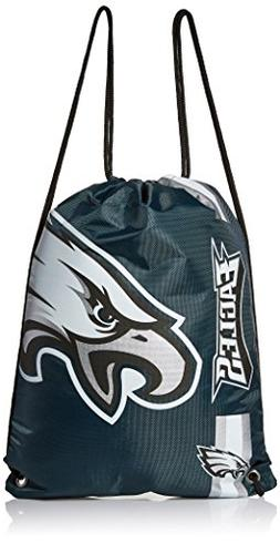 Philadelphia Eagles DrawString Backpack Big Logo Side Stripe