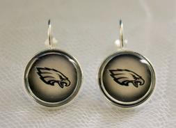 Philadelphia Eagles Earrings made from Football Trading Card