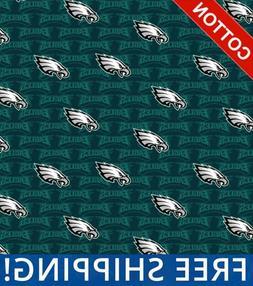 Philadelphia Eagles Emblem NFL Cotton Fabric - Style# 14735