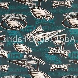 Philadelphia Eagles Fabric by the Yard or Half Yard, NFL Cot