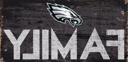 "Philadelphia Eagles FAMILY Football Wood Sign - NEW 12"" x 6"""