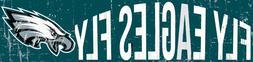 "Philadelphia Eagles FLY EAGLES Football Wood Wall Sign 16"" x"