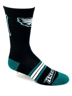 Philadelphia Eagles Football Black Green & White Quad Stripe