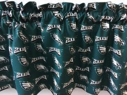 "Philadelphia Eagles Football Sports Handmade Valance 56"" x 1"