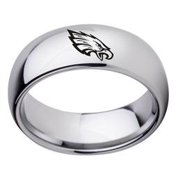 Philadelphia Eagles Football Team Stainless Steel Rings Men