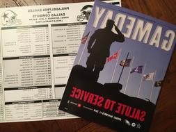 PHILADELPHIA EAGLES Gameday Magazine + Media Card 11.11.18 V