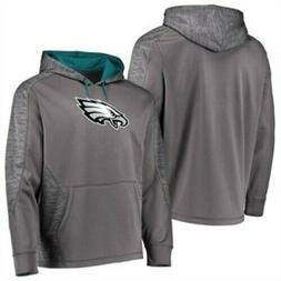 Philadelphia Eagles Grey Poly Shield Synthetic Hoodie Sweats
