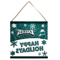 Philadelphia Eagles Happy Holidays Banner Sign Christmas Wal