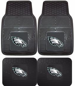 Philadelphia Eagles Heavy Duty Floor Mats 2 & 4 Pc Sets for