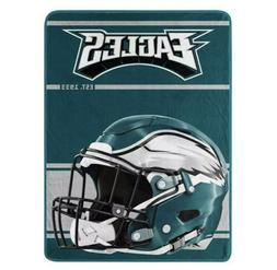 Philadelphia Eagles Helmet Throw Blanket 46x60 Micro Raschel