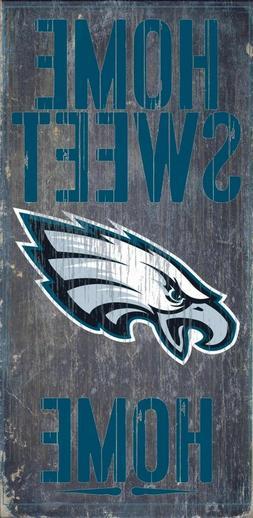 "Philadelphia Eagles Home Sweet Home Wood Sign NEW 6"" x 12"" W"