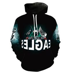Philadelphia Eagles Hoodies 3D Sweatshirts Pullover Hooded J