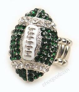 Philadelphia EAGLES Jewelry Green White Rhinestone Girls Wom