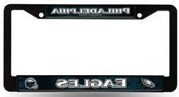 Philadelphia Eagles LBL BLACK Plastic Frame License Plate Ta