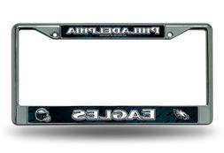 Philadelphia Eagles LBL Chrome Frame Metal License Plate Tag