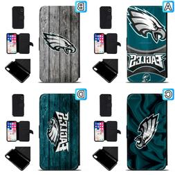 Philadelphia Eagles Leather Flip Case For iPhone X Xs Max Xr