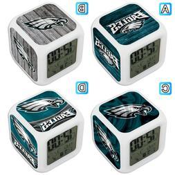 philadelphia eagles sport alarm digital clock led