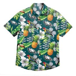 Philadelphia Eagles Mens Button Down Shirt Floral Hawaiian P