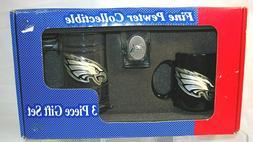 Philadelphia Eagles NFL 3-Piece Pewter Emblem Handcrafted Gi