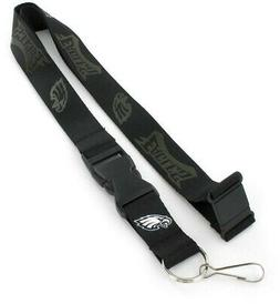 Philadelphia Eagles NFL Black on Black Lanyard Key Ring Keyc