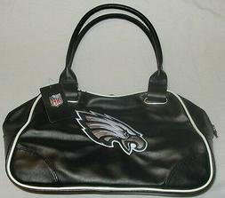 PHILADELPHIA EAGLES NFL BOWLER PURSE HANDBAG TRAVEL BAG BLAC