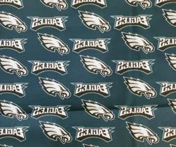 "Philadelphia Eagles NFL Cotton Fabric 1/4  Quarter Yard 9"" x"