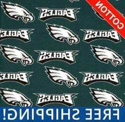 "Philadelphia Eagles NFL Cotton Fabric - 60"" Wide - Style# 62"