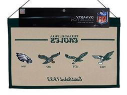 Philadelphia Eagles NFL Embroidered Wool Hanging Dynasty Ban