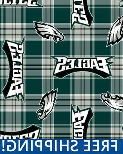 "Philadelphia Eagles NFL Fleece Fabric - 60"" Wide - Style# 64"