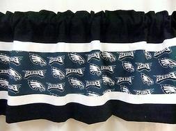 Philadelphia Eagles NFL Football Black Valance Curtain Choos