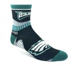 Philadelphia Eagles NFL Green and Black Quarter Socks Gray C