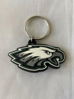 PHILADELPHIA EAGLES NFL KEYCHAIN FOOTBALL TEAM DECAL LOGO PV