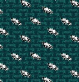 Philadelphia Eagles NFL Mini-name design 100% Cotton Fabric-