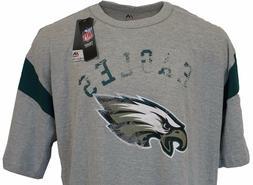 Philadelphia Eagles NFL Majestic Weathered Logo T-Shirt, Gre