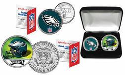 PHILADELPHIA EAGLES Officially Licensed NFL 2-COIN SET w/ De