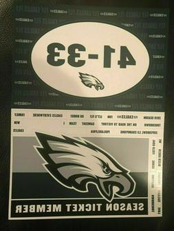 Philadelphia Eagles Season Ticket Holder Fridge / Car Magnet